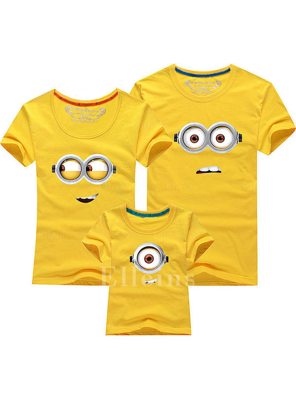 Cartoon Print Family Matching T-Shirts