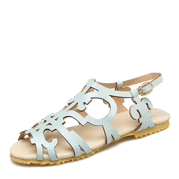 edcb89236b7868 Women s Leatherette Flat Heel Sandals Flats With Others shoes ...