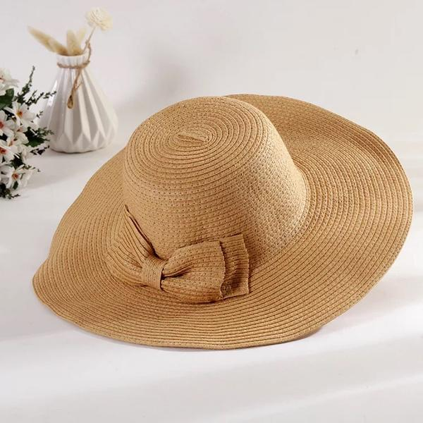 7cd4a0c13 [US$ 6.99] Ladies' Special/Elegant/Eye-catching Raffia Straw With Bowknot  Straw Hats - Elleins