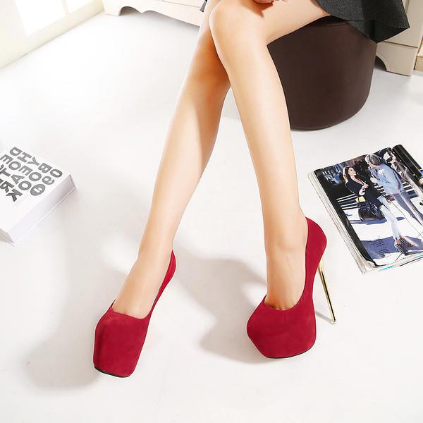 De mujer Ante Tacón stilettos Salón Plataforma Cerrados con Otros zapatos
