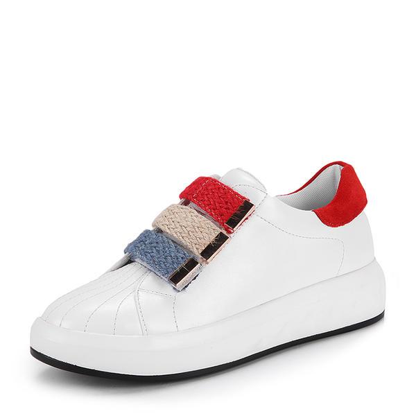 De mujer PU Tipo de tacón Planos Cerrados Cuñas con Velcro zapatos