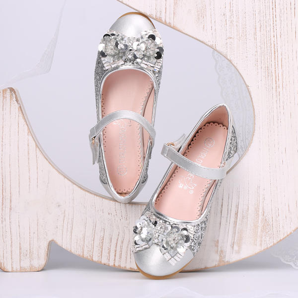 87e0ac7e7ee Κλειστά παπούτσια Γοβάκια Κορίτσι λουλουδιών Με Bowknot Τεχνητό διαμάντι  Πούλια Velcro