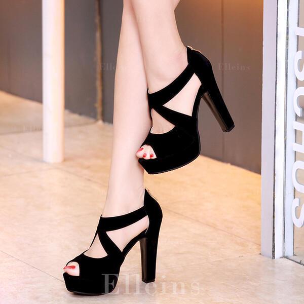 De mujer Tacón stilettos Sandalias Plataforma Encaje zapatos