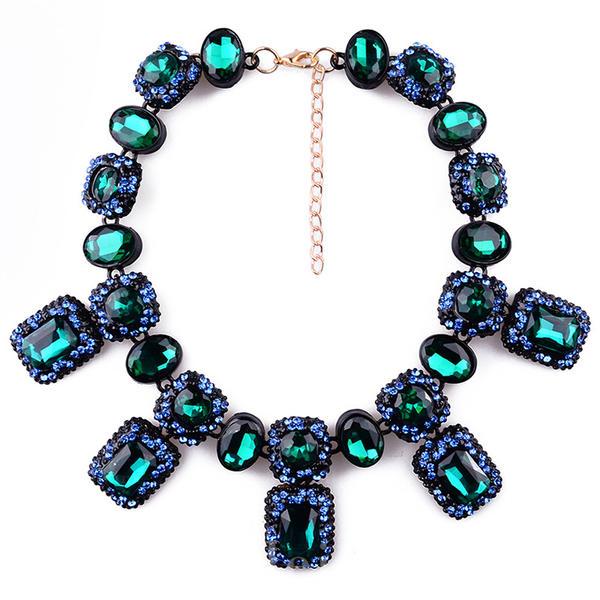 Unique Gem With Cat's Eye Women's Fashion Necklace