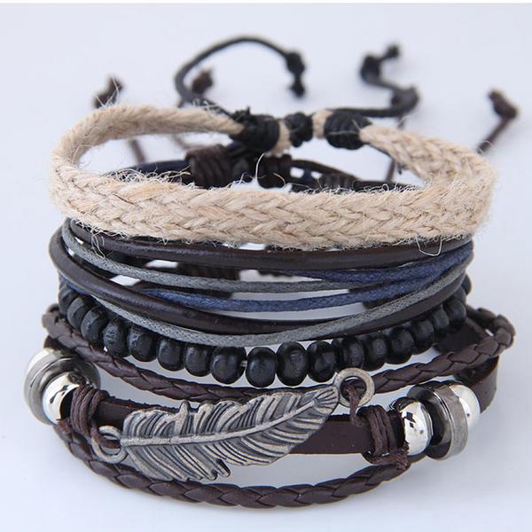 Chic Alloy Leatherette Ladies' Fashion Bracelets