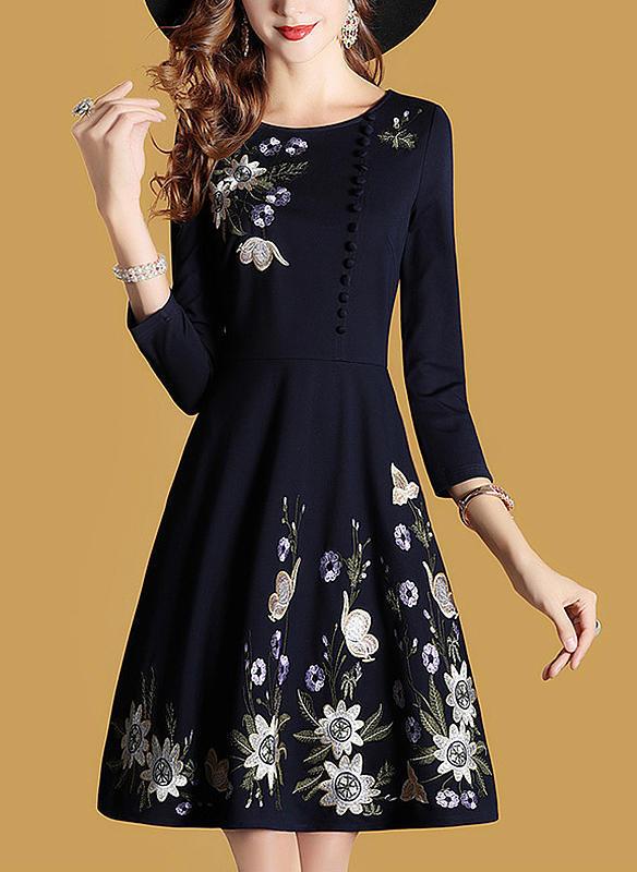 4cc10aba6f Rękawy 3 4 Linia A Kolano Długość Vintage Suknie Suknie Plus Size ...