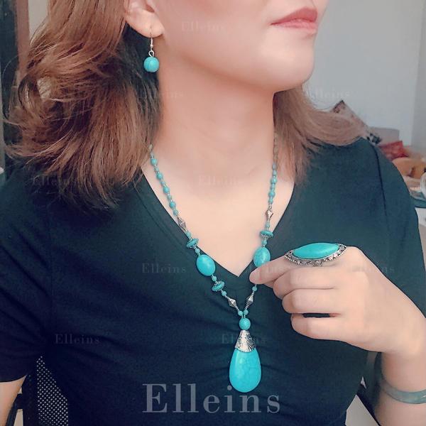 frumos La modă exotic Aliaj Turcoaz Femei Seturi de bijuterii (Set of 2)