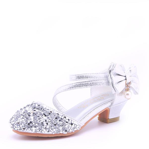 b6ac045ccf7 Στρογγυλά παπούτσια Κλειστά παπούτσια Σανδάλια Κορίτσι λουλουδιών Με Bowknot