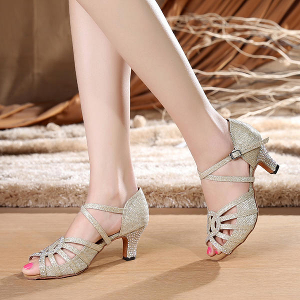 De mujer Danza latina Tacones Sandalias Encaje con Tira de tobillo Danza latina