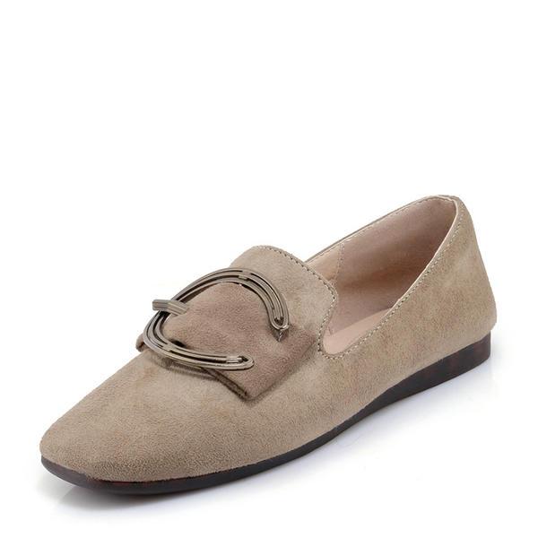 7ff17f1bfb726 [US$ 35.99] Frauen Veloursleder Flascher Absatz Flache Schuhe mit Schnalle  Schuhe - Elleins