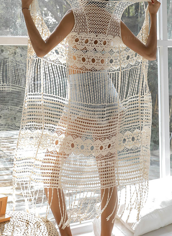 Solid Color Bohemian Cover-ups Swimsuits