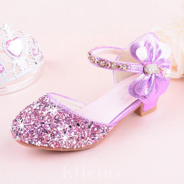 66ba3433239 Στρογγυλά παπούτσια Κλειστά παπούτσια Διαμερίσματα Κορίτσι λουλουδιών Με  Bowknot