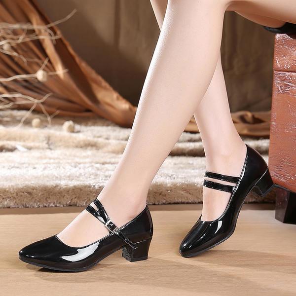 De mujer Sala de Baile zapatos de personaje Tacones Cuero Danza latina