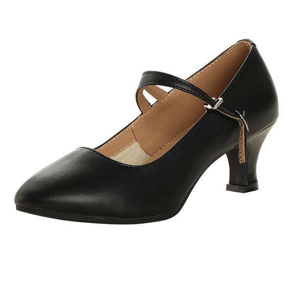 fc084c19 Dla kobiet buty do butów Czólenka Prawdziwa Skóra Z Pasek na Kostce  Nowoczesny