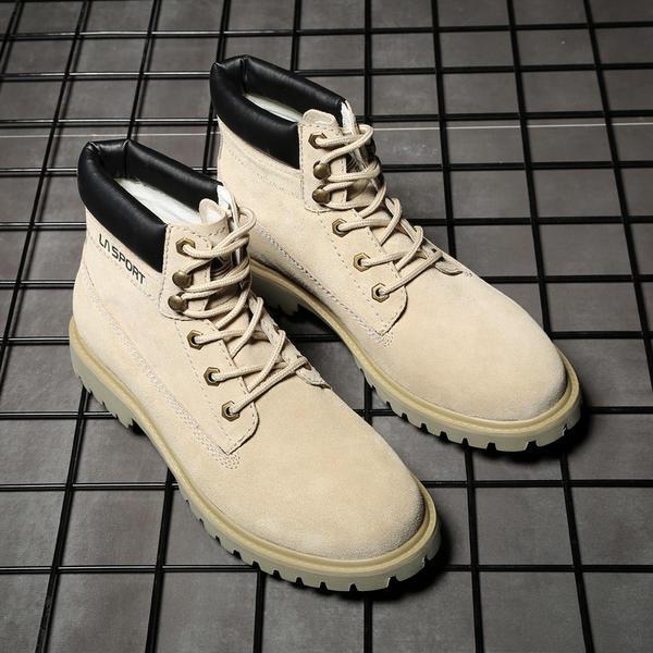 55f8519c9 [US$ 43.99] Snø støvler Avslappet Egte Lær Menn Boots til herre - Elleins