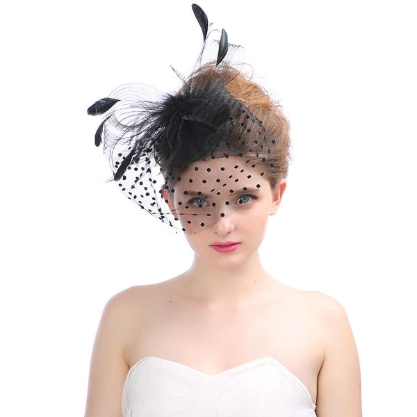 36d5accf0 [US$ 14.99] Ladies' Beautiful Tulle With Feather Fascinators - Elleins