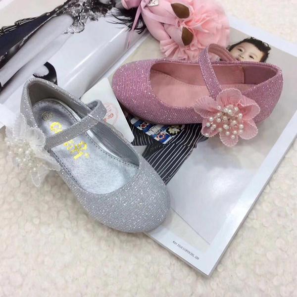777d16c9697 Κλειστά παπούτσια Κορίτσι λουλουδιών Με Συσκευή αναδίπλωσης Velcro Λουλούδι