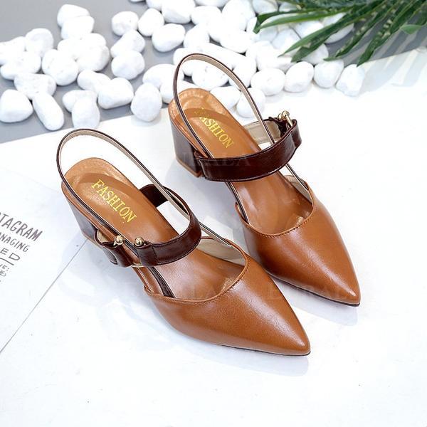 Női PU Chunky sarok Magassarkú -Val Csat cipő