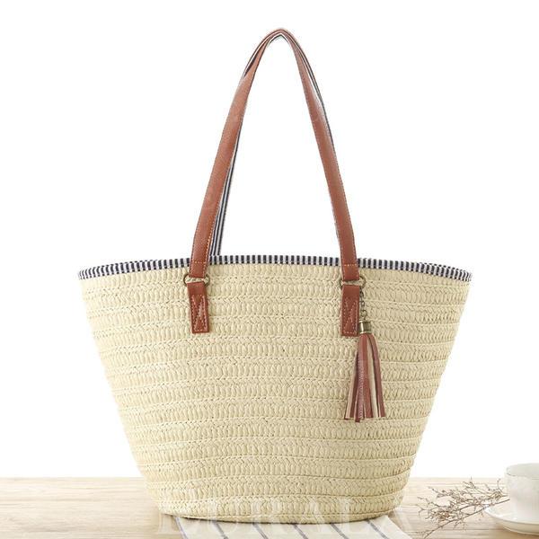 Büyüleyici Kağıt Halat Bez Çantalar/Plaj Çantaları