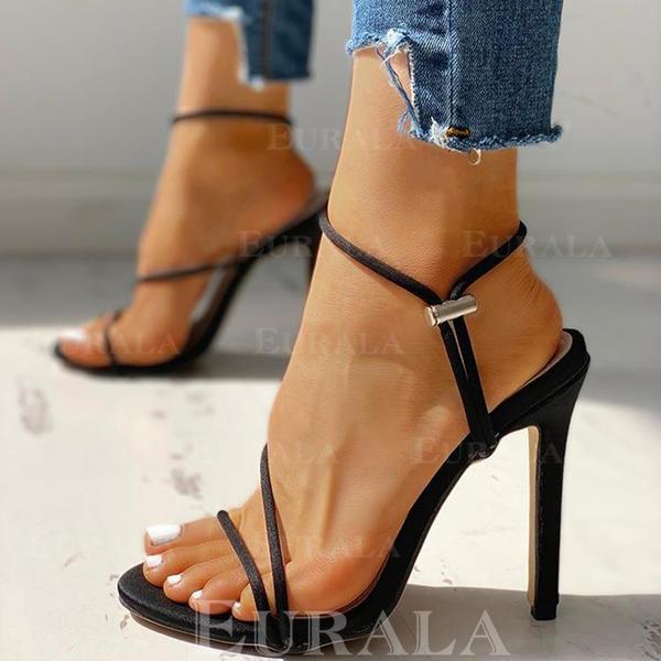 Bayanlar Kumaş Topuklu ayakkabı Sandalet Pompalar Peep Toe Ile Diğerleri ayakkabı