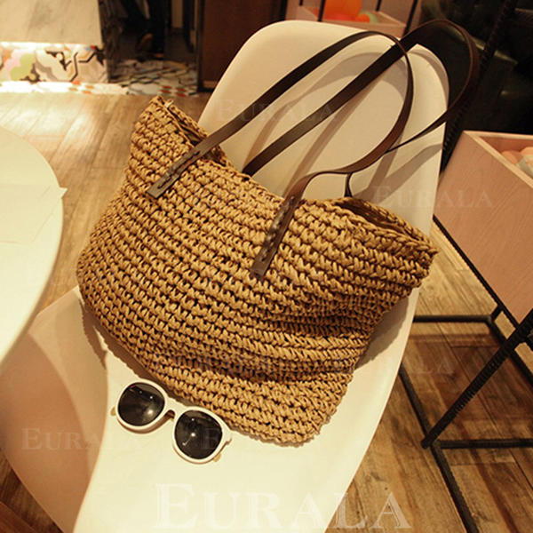 Unique/Braided Straw Tote Bags/Shoulder Bags