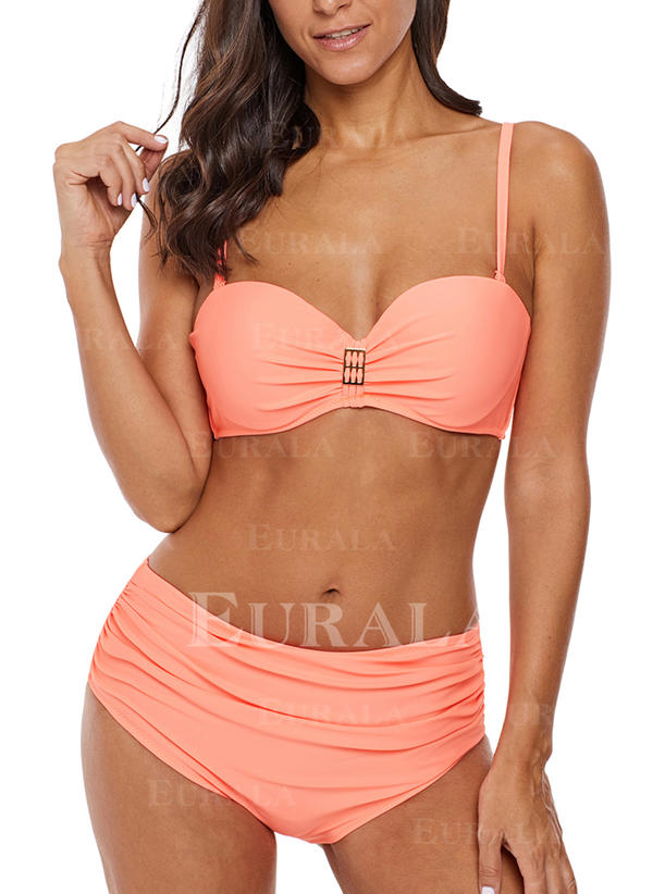 Effen kleur Beugel Riem Sexy Aantrekkelijk Bikini's Badpakken