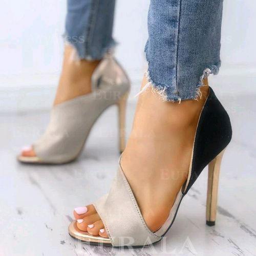 Bayanlar PU Topuklu ayakkabı Sandalet Pompalar Peep Toe Ile Diğerleri ayakkabı