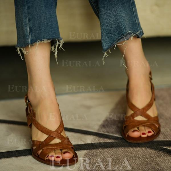 Vrouwen PU Stiletto Heel Sandalen Pumps met Gesp schoenen