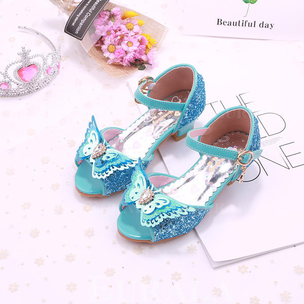 fb7ef88a1037e [US$ 22.99] Girl's Leatherette Round Toe Peep Toe Flower Girl Shoes With  Bowknot - Eurala