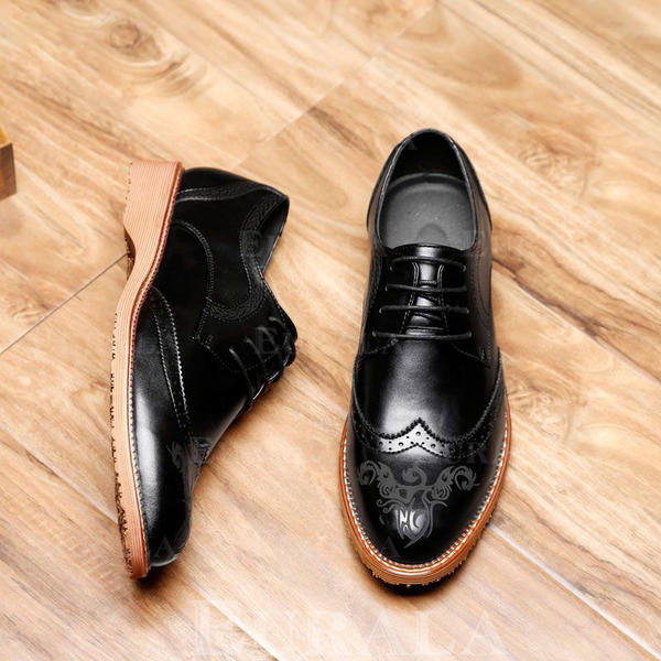 Cuir En Chaussures Habillées Microfibre Dentelle Brogue iuOXZPk