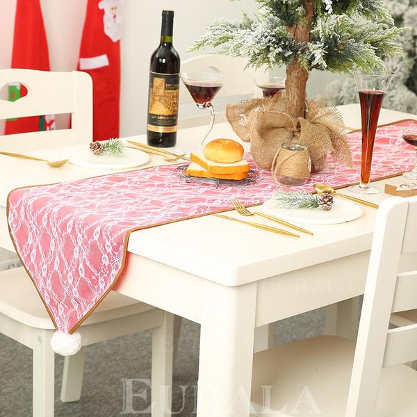 Fröhliche Weihnachten Leinen Tischläufer