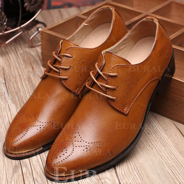 šněrovací Společenské boty Koženka Pánské Pánská obuv Oxford ... 73e27771a7
