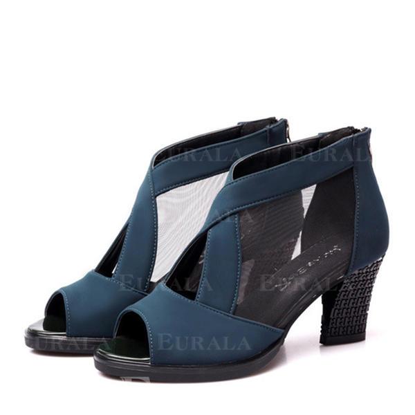 Жіночі Практика Насоси Нубук Сітка Взуття для танців