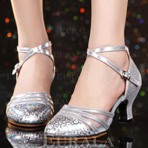 Жіночі Бальна зала Каблуки Шкіра Взуття для спортивно-бальних танців