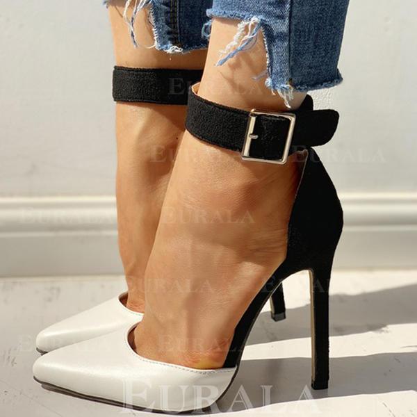 Női PU Tűsarok Magassarkú -Val Csat cipő