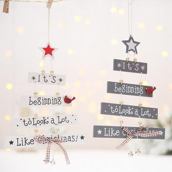 Fröhliche Weihnachten Hängend Hölzern Weihnachtsanhänger Weihnachtsdekoration
