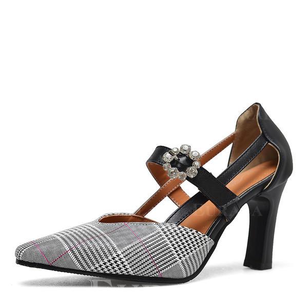 Жіночі ПУ Квадратні підбори Насоси з Бісероплетіння Пряжка взуття