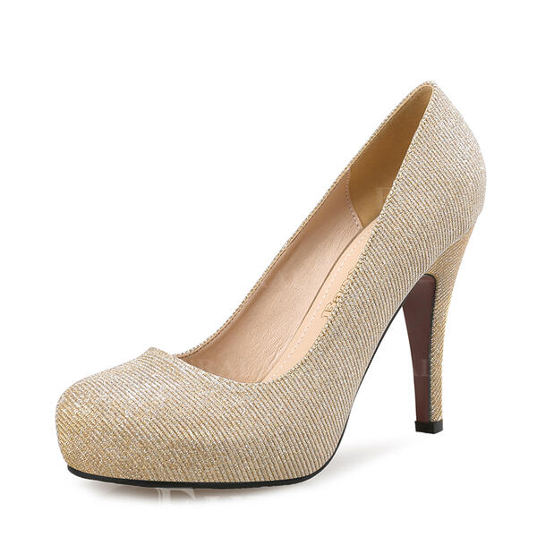 Mulheres Espumante Glitter Salto agulha Bombas Fechados com Espumante Glitter sapatos