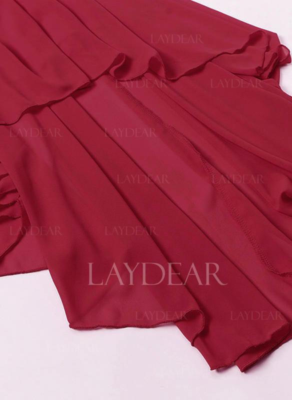 b122a8f954 Koronka Bez rękawów W kształcie litery A Asymetryczna Wintage Casual Elegancki  Sukienki