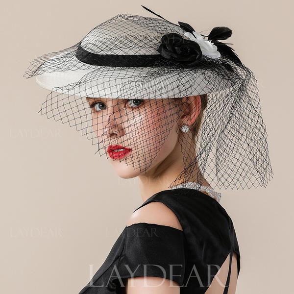 b874c87786f Ladies  Elegant Eye-catching Nice Fancy Cambric With Tulle Fascinators