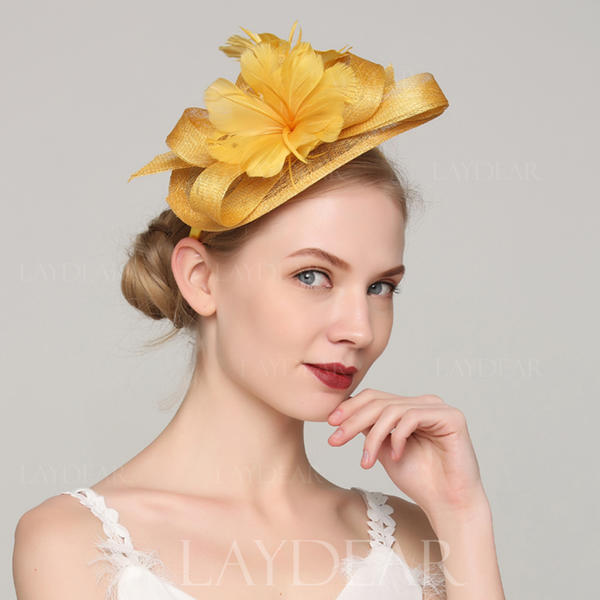 Ladies  Unique Cambric Feather With Feather Fascinators (196154318 ... a978279af37