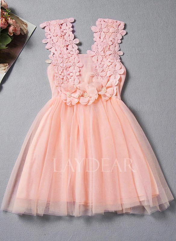 de6edcd76a3 Στερεός Κουρελού Δαντέλα Μαργαριτάρια Τόξο Ανέμελος Χαριτωμένος Φόρεμα