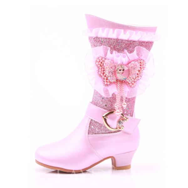 6b7572965d3 Κορίτσι Λείαντο Χαμηλή τακούνια Στρογγυλά παπούτσια Κλειστά παπούτσια Μίνι  μπότες Μπότες Κορίτσι λουλουδιών Με Πόρπη Δέσιμο