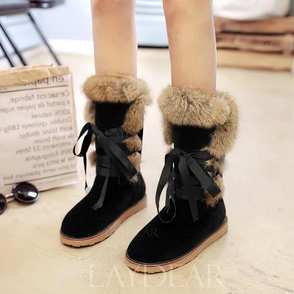 191bb7a11e6 Καστόρι Επίπεδη φτέρνα Μπότες Μίνι μπότες Με Κέντημα-επάνω Γούνα παπούτσια