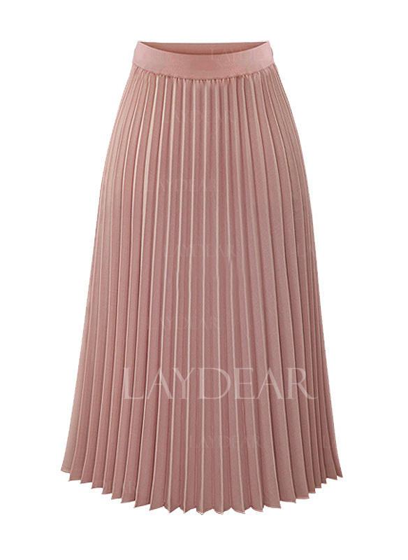 2d25296ad928 Šifón Jednobarevný Do půl lýtek Skládané sukně Sukně do tvaru A ...