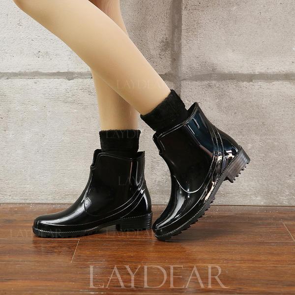 Frauen PVC Niederiger Absatz Stiefel Regenstiefel mit Andere Schuhe