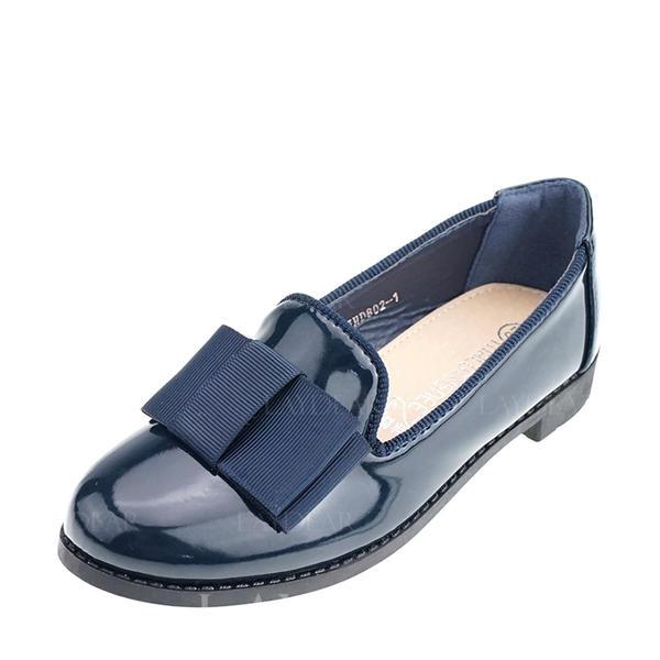 Mädchens Leder Flache Ferse Geschlossene Zehe Slipper & Slips Flache Schuhe mit Bowknot