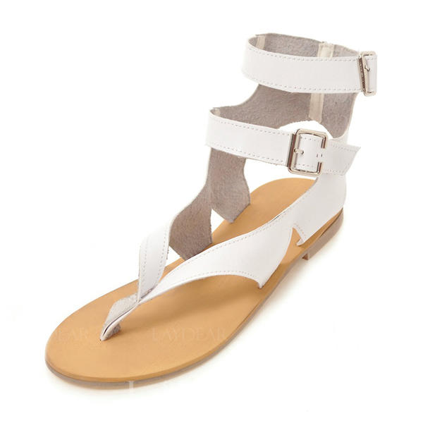 209f42470d09a1 Women s Leatherette Flat Heel Sandals Flats Peep Toe Slingbacks With Buckle  shoes