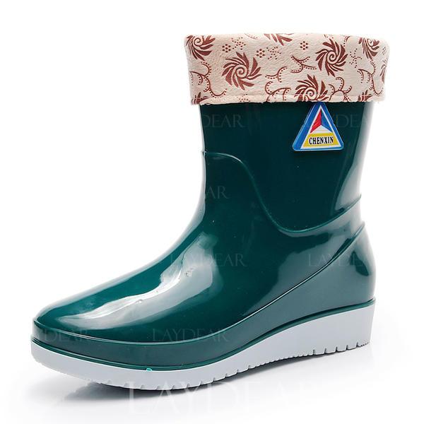 7e8e8ac4f De mujer PVC Tacón bajo Botas de lluvia zapatos (088173041) - Botas ...