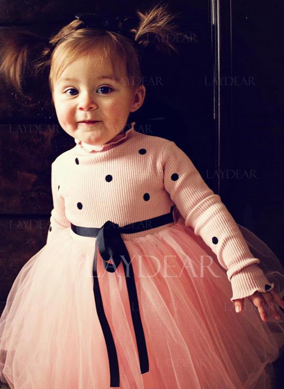 da979e497b Lányok Kerek nyak Püttyös Aranyos Ruha (1009237886) - Kislány ruhák ...